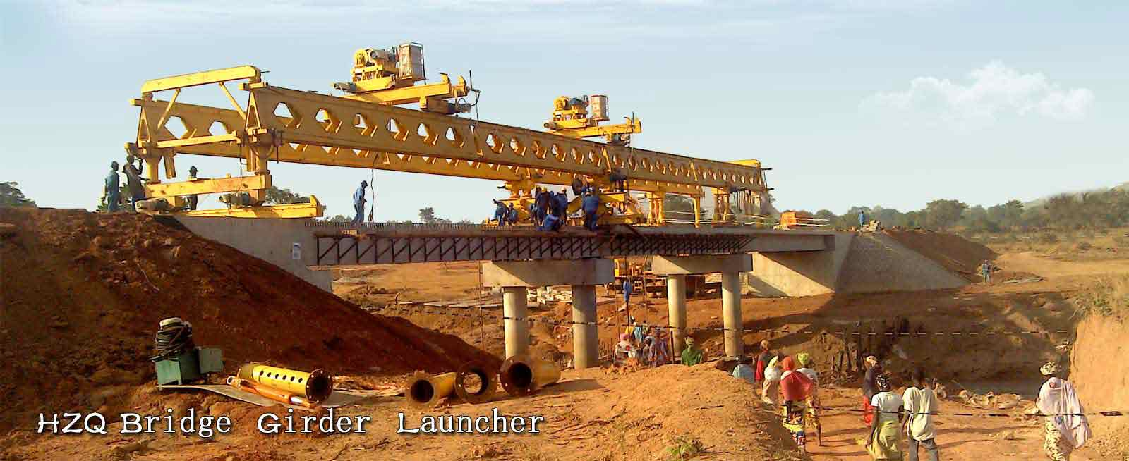 Bridge Girder Launcher for Tunnels