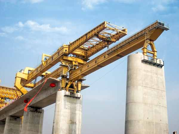Bridge Construction Machine for Railway