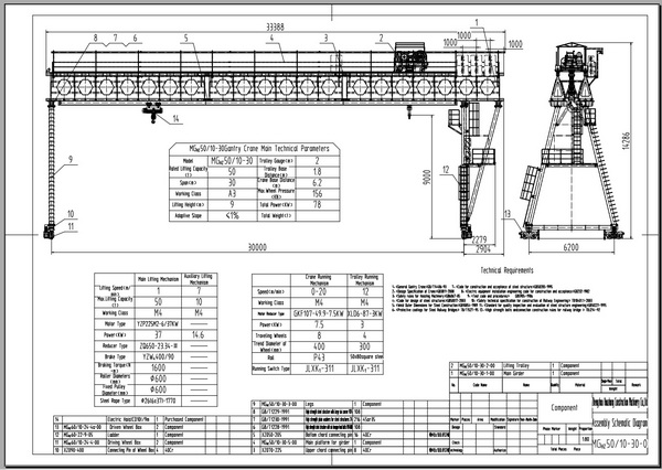 Jib Crane Parts Drawing : Honeycomb beam gantry crane for highway and factory zzhz