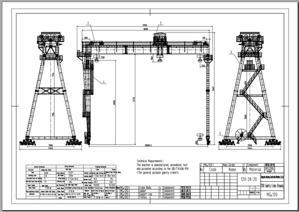 Overhead Crane Autocad Drawing : Gantry crane box girder for highway and factory zzhz