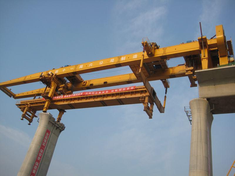 联合研制了hzq900b过隧道架桥机和hzy900b运梁车可